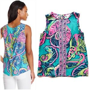 Lilly Pulitzer Iona Shell Sea Blue Private Island
